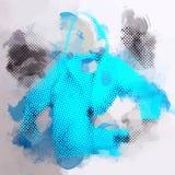Διανυσματική μπλε ζακέτα σχεδίων υποβάθρου Watercolor Στοκ εικόνα με δικαίωμα ελεύθερης χρήσης