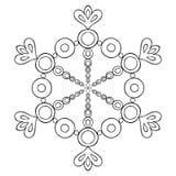 Διανυσματική νιφάδα χιονιού διακοπής εγγράφου στο ύφος zentangle, doodle ο Μαύρος απεικόνιση αποθεμάτων
