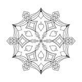 Διανυσματική νιφάδα χιονιού διακοπής εγγράφου στο ύφος zentangle, doodle mandal διανυσματική απεικόνιση