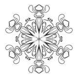 Διανυσματική νιφάδα χιονιού στο ύφος zentangle doodle, εκλεκτής ποιότητας mandala για διανυσματική απεικόνιση
