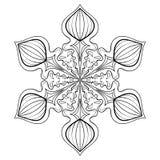 Διανυσματική νιφάδα χιονιού στο ύφος zentangle, doodle mandala για το ενήλικο γ ελεύθερη απεικόνιση δικαιώματος