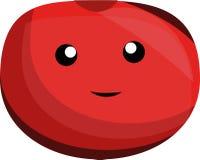 Διανυσματική ντομάτα κινούμενων σχεδίων στοκ εικόνα με δικαίωμα ελεύθερης χρήσης