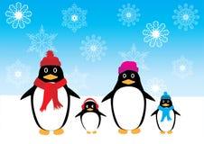 Διανυσματική οικογένεια Penguin Στοκ Εικόνες