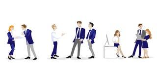 Διανυσματική ομάδα απεικόνισης στο επίπεδο σχέδιο διανυσματική απεικόνιση