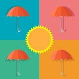 Διανυσματική ομπρέλα εικονιδίων το καλοκαίρι Στοκ Φωτογραφίες