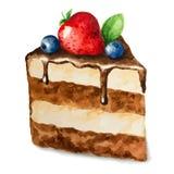 Διανυσματική πίτα watercolor Στοκ φωτογραφία με δικαίωμα ελεύθερης χρήσης