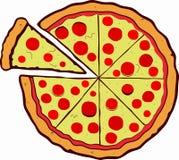 Διανυσματική πίτσα Στοκ φωτογραφία με δικαίωμα ελεύθερης χρήσης