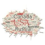 Διανυσματική παγκόσμια χώρα ή ήπειρος απεικόνιση αποθεμάτων