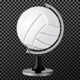 Διανυσματική πετοσφαίριση Μια δημιουργική απλή σύγχρονη πετοσφαίριση έννοιας όπως μια διανυσματική απεικόνιση σφαιρών Αθλητισμός  Στοκ εικόνα με δικαίωμα ελεύθερης χρήσης