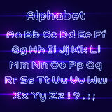 Διανυσματική πηγή αλφάβητου νέου ελαφριά ρεαλιστικός Στοκ φωτογραφία με δικαίωμα ελεύθερης χρήσης