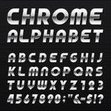 Διανυσματική πηγή αλφάβητου χρωμίου Στοκ φωτογραφίες με δικαίωμα ελεύθερης χρήσης
