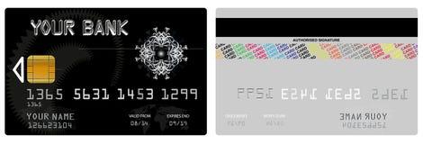 Διανυσματική πιστωτική κάρτα Στοκ Φωτογραφία