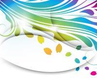 Διανυσματική πολύχρωμη αφηρημένη ανασκόπηση φύλλων διανυσματική απεικόνιση