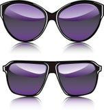 Διανυσματική πορφύρα γυαλιών ηλίου διανυσματική απεικόνιση
