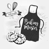 Διανυσματική ποδιά μαγείρων απεικόνισης Στοκ Φωτογραφίες