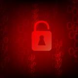 Διανυσματική προστασία ασφάλειας εικονιδίων κλειδαριών Στοκ Εικόνα