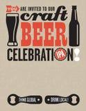 Διανυσματική πρόσκληση μπύρας τεχνών Στοκ φωτογραφία με δικαίωμα ελεύθερης χρήσης