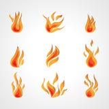 Διανυσματική πυρκαγιά Στοκ Φωτογραφίες