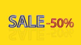Διανυσματική πώληση κειμένων χρώματος ογκομετρική 10 eps στοκ φωτογραφία