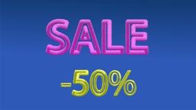 Διανυσματική πώληση κειμένων χρώματος ογκομετρική 10 eps στοκ εικόνα με δικαίωμα ελεύθερης χρήσης