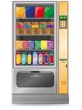 διανυσματική πώληση πρόχειρων φαγητών μηχανών απεικόνισης Στοκ εικόνα με δικαίωμα ελεύθερης χρήσης