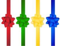 Διανυσματική πλαστική ζωηρόχρωμη έννοια διακοπών δώρων κορδελλών εικονογράφων Στοκ εικόνα με δικαίωμα ελεύθερης χρήσης