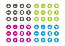 Διανυσματική σειρά 4 προτύπων κύκλων των πόρων εικονιδίων γραφική Στοκ Εικόνες
