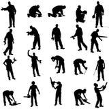 Διανυσματική σκιαγραφία άνθρωποι απεικόνιση αποθεμάτων