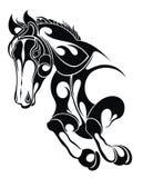 Διανυσματική σκιαγραφία ενός αλόγου απεικόνιση αποθεμάτων