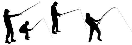 Διανυσματική σκιαγραφία ενός ατόμου διανυσματική απεικόνιση