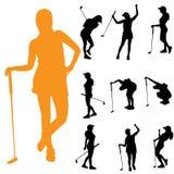 Διανυσματική σκιαγραφία μιας γυναίκας διανυσματική απεικόνιση