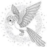 Διανυσματική σκιαγραφία παπαγάλων ζουγκλών cockatoo φαντασίας τυποποιημένη ελεύθερη απεικόνιση δικαιώματος