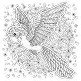 Διανυσματική σκιαγραφία παπαγάλων ζουγκλών cockatoo φαντασίας τυποποιημένη Στοκ φωτογραφίες με δικαίωμα ελεύθερης χρήσης