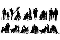 Διανυσματική σκιαγραφία της οικογένειας διανυσματική απεικόνιση