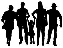 Διανυσματική σκιαγραφία της οικογένειας απεικόνιση αποθεμάτων