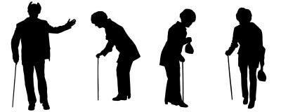 Διανυσματική σκιαγραφία του ηλικιωμένου ανθρώπου Στοκ εικόνα με δικαίωμα ελεύθερης χρήσης