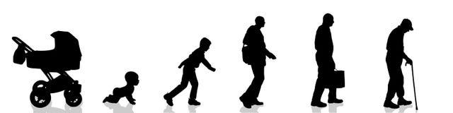 Διανυσματική σκιαγραφία των ανθρώπων διανυσματική απεικόνιση