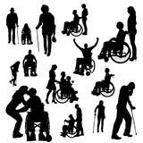 Διανυσματική σκιαγραφία των ανθρώπων απεικόνιση αποθεμάτων