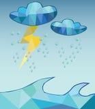Διανυσματική σκληρή βροχή Στοκ φωτογραφία με δικαίωμα ελεύθερης χρήσης