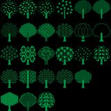 Διανυσματική συλλογή δέντρων για όλο το σχεδιαστή απεικόνιση αποθεμάτων