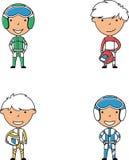 Διανυσματική συλλογή doodle αγοριών δρομέων Στοκ εικόνα με δικαίωμα ελεύθερης χρήσης