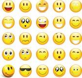 Διανυσματική συλλογή emoticons 25 σύνολο Στοκ Εικόνες