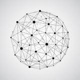 Διανυσματική συνδέοντας γήινη σφαίρα wireframe Conce σύνδεσης σφαιρών ελεύθερη απεικόνιση δικαιώματος