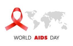 Διανυσματική συνειδητοποίηση Παγκόσμιας Ημέρας κατά του AIDS, πρόληψη HIV απεικόνιση αποθεμάτων