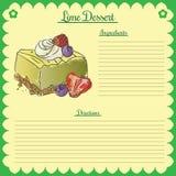 Διανυσματική συνταγή Ασβέστης cupcake Στοκ Εικόνες