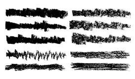 Διανυσματική συρμένη χέρι συλλογή καλλιτεχνική του ξυλάνθρακα Στοκ εικόνες με δικαίωμα ελεύθερης χρήσης