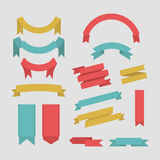 Διανυσματική συλλογή εμβλημάτων κορδελλών χρώματος διανυσματική απεικόνιση