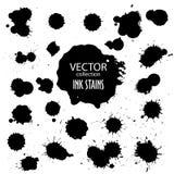 Διανυσματική συλλογή του διάφορου μελανιού splatter Στοκ εικόνα με δικαίωμα ελεύθερης χρήσης