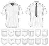 Διανυσματική συλλογή του σχεδίου τσεπών πουκάμισων ελεύθερη απεικόνιση δικαιώματος