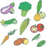 Διανυσματική συλλογή τροφίμων λαχανικών Στοκ φωτογραφία με δικαίωμα ελεύθερης χρήσης